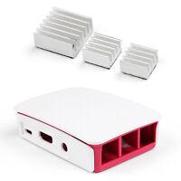 Official Case+Aluminum Heatsink Cooler Cooling Kit For Raspberry Pi 3 Model B BU