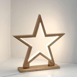 Stand Steh Lampe Leuchte Stern Weihnacht Deko Licht weiß Nicolas Eedelstahl 60cm