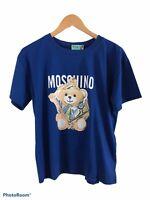 Blue fashion women top teddy bear design