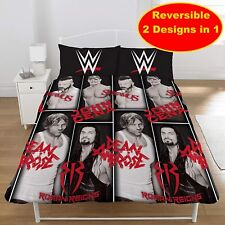 WWE WRESTLING SINGLE DUVET QUILT COVER SET BOYS KIDS JOHN CENA ROMAN REIGNS FAN