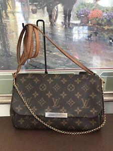 ❤ Favorite MM ❤Monogram❤Louis Vuitton M40718 Crossbody Handbag Clutch 100% Auth