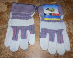 unbranded smooth grain oxhide safety cuff canvas work gloves new