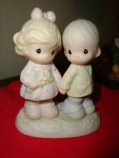 "Vtg 1996 Precious Moments ""You're Forever in My Heart"" Ceramic Figurine-4"" Tall"