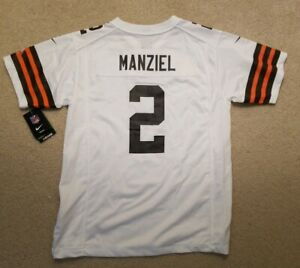 🔥🔥New Nike Johnny Manziel Cleveland Browns Replica Football Jersey Youth L
