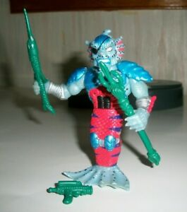 TMNT PLAYMATES MERDUDE 1992  LOOSE FIGURE WITH 3  OUT OF 4  ACCESSORIES