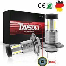 2x H7 LED Scheinwerfer Kit Fernlicht Abblendlicht Birne 6000K Weiß Auto/Motorrad