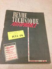 Revue Technique Automobile Alfa Roméo Giulietta  n° 161 éd. 59 RTA