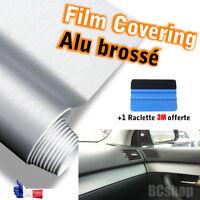 film vinyle alu brossé covering 152cmx30cm thermoformable adhésif + raclette 3M