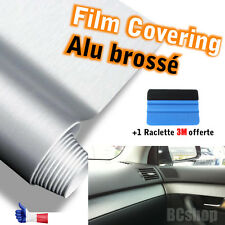 Film spécial covering ALU BROSSE  THERMOFORMABLE 3D 30CM X 100CM  + OUTIL  3M