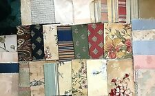 Sewing Fabric Squares, Autumn Tones, Mixed Colors & Patterns Thick/Thin Material