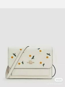 NWT Coach Foldover Belt Bag And Crossbody Bag With Daisy Embroidery
