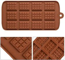 Mini Chocolate Bars Slab Silicone Fondant Mould Cake Decorating Baking Mold Tool