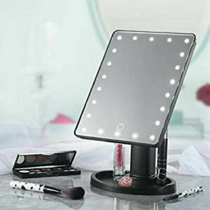 16 LED Cosmetic Vanity Mirror Light Up Touch Screen Dressing Table Rotating