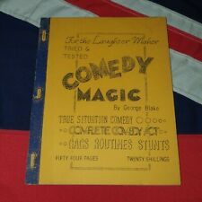 Vintage Magic Tricks Stage Illusions Instructions Books - Tried & Tested Comedy