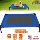 Cooling Elevated Dog Bed Lounger Sleep Pet Cat Raised Cot Hammock Indoor Outdoor