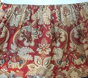 Ralph Lauren Bed Skirt Queen Paisley Jardiniere Red, Green & Tan