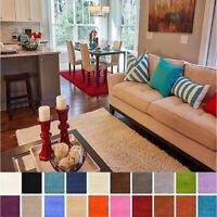 Contemporary 7' x 10' Solid Shag Fluffy Shaggy Area Rug Soft Plain Carpet Modern