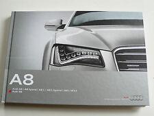 Prospekt Audi A8 / hybrid / L W12 / S8, 9.2012, Buch 148 Seiten, über 1 kg