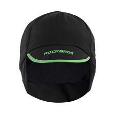 RockBros Winter Cycling Cap Thermal Fleece Outdoor Sport Hat Black Green