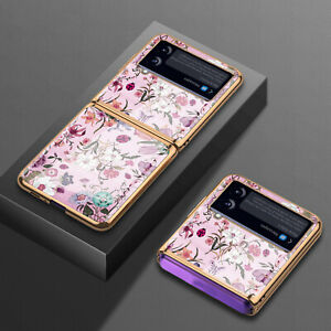 Phone Case Retro Floral Phone Cover Protector for Samsung Galaxy Z Flip 3 Phone