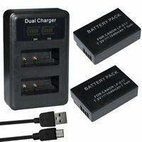 2X Replacement LP-E17 Battery+charger for Canon EOS RP Mirrorless Digital Camera