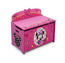 Delta Children Deluxe Toy Box Disney Minnie Mouse Free Shipping