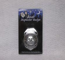 Official Boob Inspector Badge Game Day Novelty Gag Gift Bachelor Hot Party Favor