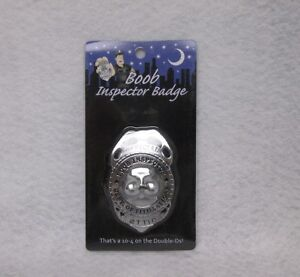 Official Boob Inspector Badge Novelty Gag Gift Bachelor Party Pride Prize Favor
