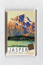 Vintage Travel Poster Fridge Magnet - Jasper National Park, Canada