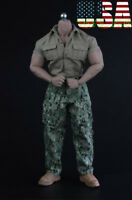 "1/6 Military Shirt Pants Shoes Set For 12"" Hot Toys PHICEN M34 M35 Muscular Body"