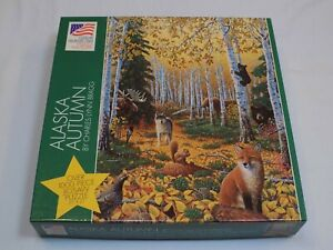 Great American Puzzle Factory Alaska Autumn Fox Wolf 1000 Pcs NOT Counted AS IS