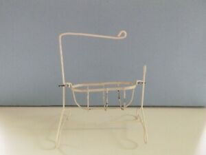 Vintage Doll's House 12th Scale Metal Rocking Crib Cot Or Cradle - No Drapes