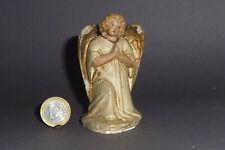 Alte Marolin Krippenfigur kniender Engel 8cm hoch Hohlguss Figur