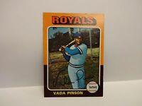 1975 Topps Vada Pinson Card # 295 Kansas City Royals