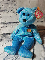 TY Beanie Baby - Classy the bear - 2001, PE pellets.  Mint Condition with Tag