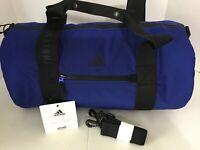 Adidas VFA Roll Duffel Bag Gym Bag Tote Strap Blue NWT