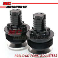 Black Fork Preload Adjuster Kits set For Honda CBR400RR NC23 87-90