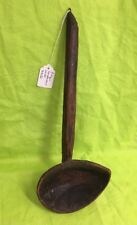 "Antique Vintage WOODEN SCOOP SPOON Butter Paddle PRIMITIVE LADLE 13"" Carved Wood"