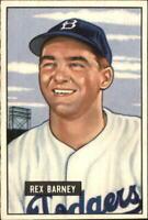 1951 Bowman Brooklyn Dodgers Dodgers Baseball Card #153 Rex Barney - EX-MT
