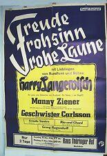 Cartel Gastspiel Casa Thüringer Corte Ebeleben 1946 Langewisch Ziener Santen
