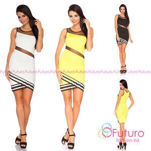 Exclusive Cut Out Mini Dress Wrap Style Elegant Mesh Party Sizes 8-14 FC1669
