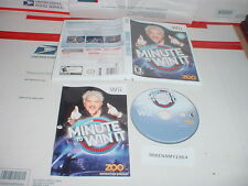 MINUTE TO WIN IT game complete in case w/ manual Nintendo Wii
