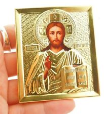 Gold Russian Orthodox Icon Christ The Teacher  Jesus 2 3/4""