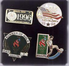 1996 Atlanta Olympic 4 Pin Set In Original Package Soccer Summer of Gold USA