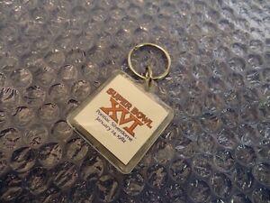 Super Bowl XVI Keychain 1982 Pontiac Silverdome - Elias Bros Big Boy on Reverse