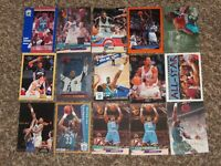 Alonzo Mourning + Larry Johnson 15 Card RC 1992  Skybox Fleer Hoops 1990s Lot