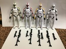 "6"" Black Series Lot of 4 - Clone Trooper Commander, Sergeant, Captain, & Trooper"