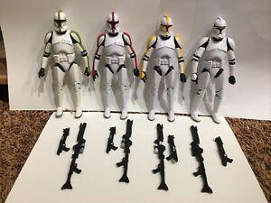 "6"" Black Series Lot of 4 - Clone Trooper Commander, Sergeant, Captain, & Trooper"
