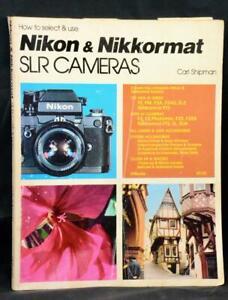 Original Nikon Nikkormat Carl Shipman Film Camera Instruction Manual Book Guide