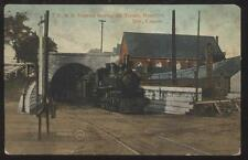 Postcard HAMILTON Ontario/CANADA  T.H. & B. Railroad Tunnel w/Locomotive 1907